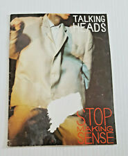 TALKING HEADS STOP MAKING SENSE Tour Book Program 1984 David Byrne
