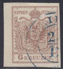 Österreich 1850 Nr. 4 MP Blaustempel geprüft Ferchenbauer 120€