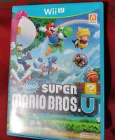 New Super Mario Bros. U (Wii U, 2012) Complete w/Manual CIB