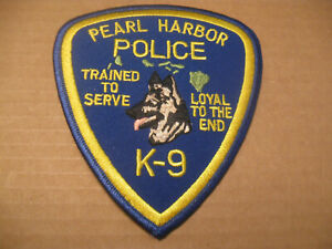 PEARL HARBOR K9 POLICE PATCH