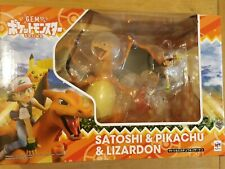 G.E.M. SERIES POKEMON: ASH & PIKACHU & CHARIZARD COMPLETE FIGURE - NEW SEALED