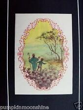 Unused Erica Von Kager Brownie Xmas Greeting Card Shepherds in Awe of the Star