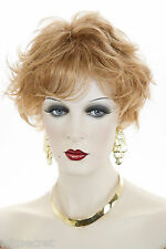 Ginger Red Short Monofilament Wavy Straight Wigs