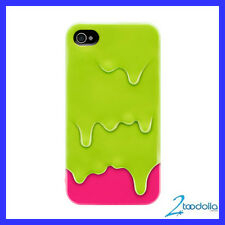SWITCHEASY Melt case, screen film & stand, iPhone 4/4S, Lime Green, NEW Oz Stock