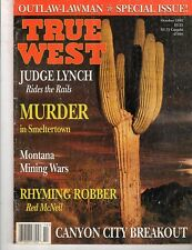 True West, Oct 1995, OUTLAW-LAWMAN Special Issue.  Canyon City Breakout