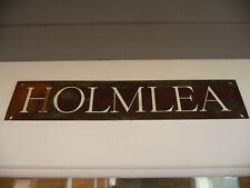 More details for vintage bronze house name plate plaque