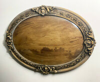Antique oval picture frame with convex glass 1920-30s