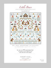 LITTLE BEARS PERSONALISED COUNTED CROSS STITCH SAMPLER KIT Riverdrift