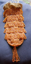 1920's Vintage Amber Beaded Flapper Draw-string Bag/Purse-great condition
