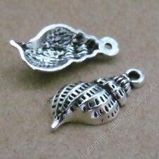 20pc Retro Tibetan Silver Conch Sea snail Charms Pendant Jewellery Making B536P