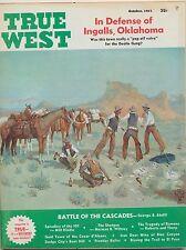 Vintage TRUE WEST Magazine In Defense of Ingalls Oklahoma Battle Cascades  1964