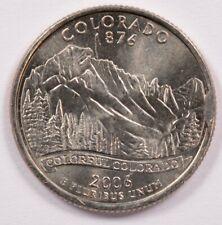 25c 2006-P Colorado Quarter Cud @ 3 o'clock BU