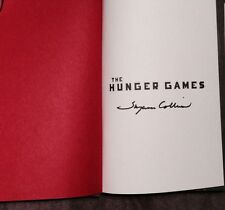 "SUZANNE COLLINS SIGNED AUTOGRAPH ""THE HUNGER GAMES"" TRILOGY 3 BOOK DELUXE SET"