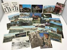 Lot of 33 Vintage Postcards - Towns Cities Buildings Streets Hotels Disney Reno