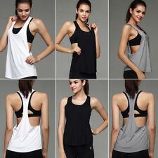 Girl Women Sports Vest Fitness Exercise Gym Yoga Tank Tops Singlet Loose Tops