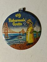 Vintage San Francisco Fisherman's Grotto Restaurant No. 9 Fold Over Pinback