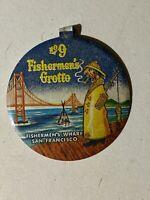 Vintage San Francisco Fisherman's Grotto Restaurant No. 9 Fold Over Pinback