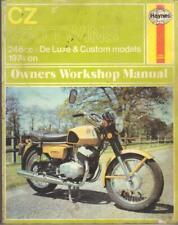 CZ250 SPORT,CUSTOM,DE LUXE,MODEL 471,TWIN HAYNES MANUAL 1974-1977