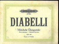 Diabelli : Melodische Übungsstücke Op. 14 - Klavier zu 4 Händen