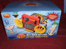 DISNEY Phineas And Ferb Best Boom Box Ever, CD Player, New In Box  GREAT SOUND