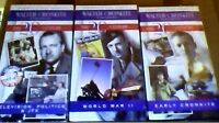Walter Cronkite Remembers : WWII JFK & EARLY (SET of 3 VHS, 1997) NEW & SEALED