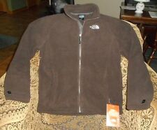 The North Face Brown Thick Polar Fleece/Shell Zip Front Mindy Jacket Sz M NWT