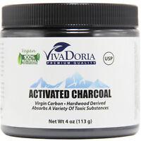 Vivadoria Virgin Activated Charcoal Powder Food Grade  (4 oz)