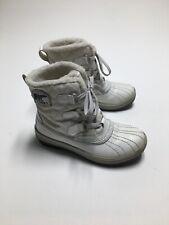 Sorel Torino Women's Waterproof Snow Boots Size 5 White Faux Fur Lining