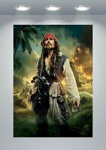 Pirates Jack Sparrow Classic Movie Large Poster Art Print A0 A1 A2 A3 A4 Maxi