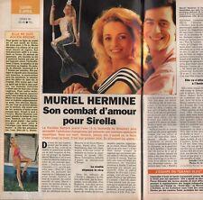 Coupure de presse Clipping 1993 Muriel Hermine  (1 page 1/2)