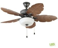 Home Decorators Palm Cove 44 in. LED Indoor/Outdoor Natural Iron Ceiling Fan