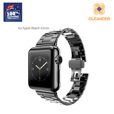 HOCO Original 42mm Apple Watch Band Black Stainless Steel Brushed Butterfly