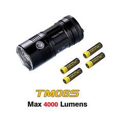 NiteCore TM06S LEDs 4000 Lumens Tactical Searching Flashlight Torch+Batteries