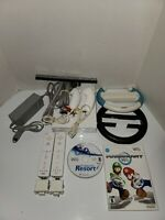 Nintendo Wii Console System Mario Kart Bundle Wii Sports Resort Bundle Wheel Lot