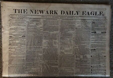 Two (2) Newark, New Jersey Newspapers October 24, 1855 and October 25, 1855
