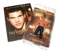 "Twilight Movie JACOB 6"" NECA FIGURE & BOOK Set lot, taylor lautner, vampire"