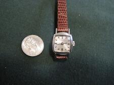 #624 ladys white gold filled BULOVA 17 jewel mechanical wind-up watch