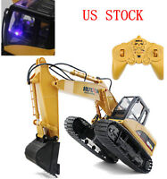 Remote Control RC Truck Excavator Tractor Bulldozer Crawler Toy Digger Car 15CH