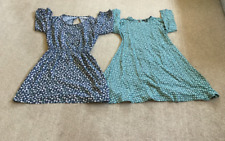 H&M and COOPERATIVE Short Sleeve Dresses UK 6 EU 32 High Neck