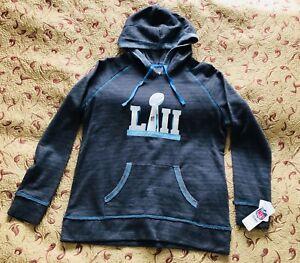 NFL Team Apparel Super Bowl 52 Women's Hoodie Sweatshirt Large Light Weight