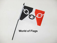 "BLACK COUNTRY SMALL HAND WAVING FLAG 6"" x 4"" West Midlands County Table Desk Top"