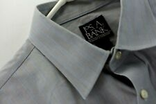Jos A Bank Mens Gray Dress Shirt Slim Fit Size Large 16 35 Long Sleeve Non Iron