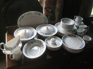 Wedgwood 'Clementine' Blue & White Comprehensive Dinner Service & Tea Set