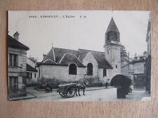 CPA VIROFLAY (78 YVELINES) L'EGLISE. VOITURE CHARRETTE ATTELAGE CHEVAL