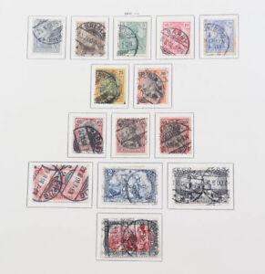 Deutsches Reich 1872 bis 1923 gute alte Sammlung Brustschilde, 5 Mark Reichspost