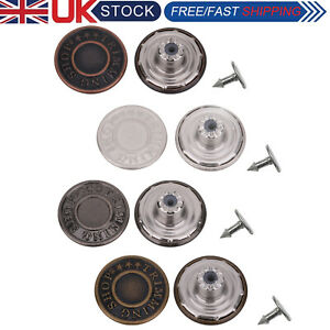 17mm Hammer On Denim Replacement Jeans Buttons with Pins for Jacket Coat Trouser