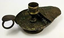 ANCIENT EGYPTIAN REVIVAL ANTIQUE CHAMBERSTICK EARLY 20TH CENTURY