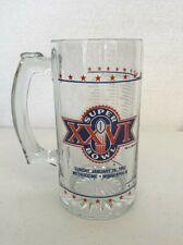 SUPERBOWL 26 XXVI GLASS Beer STEIN Mug Washington vs Buffalo