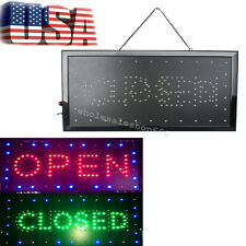 "【USA】2018 LED 2in1 Open&Closed Store Shop Business Sign 9.8*20.47"" Display Neon"