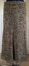 JM COLLECTION Women's Lined Gored Chiffon Animal Print Flared Skirt Size 12P